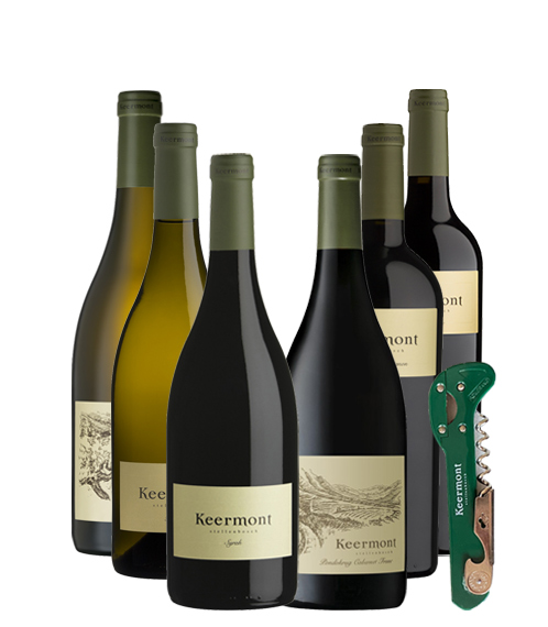 Keermont 6-Bottle Mixed Case with Wine Opener